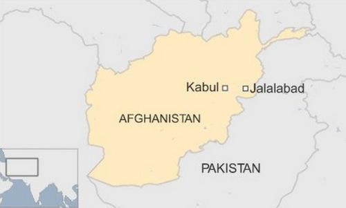 Vị trí thủ đô Kabul của Afghanistan. Đồ họa: BBC.