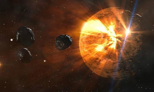 Nhiều chuyên gia đang nghiên cứu vềcác biện pháp ngăn tiểu hành tinh va chạm với Trái Đất. Ảnh: Outer Places.
