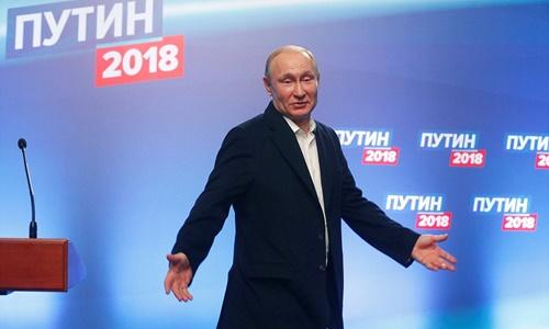 Ông Vladimir Putin giành chiến thắng áp đảo trong cuộc bầu cử tổng thống Nga, qua đó bước vào nhiệm kỳ thứ 4 lãnh đạo đất nước. Ảnh: Reuters.