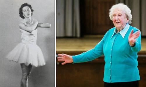 Bà Harper đã dạy ballet suốt 72 năm. Ảnh: SWNS