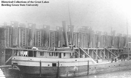 TàuMargaret Olwill bị đắm ở hồ Erie do một cơn bão năm 1899. Ảnh: Fox News.