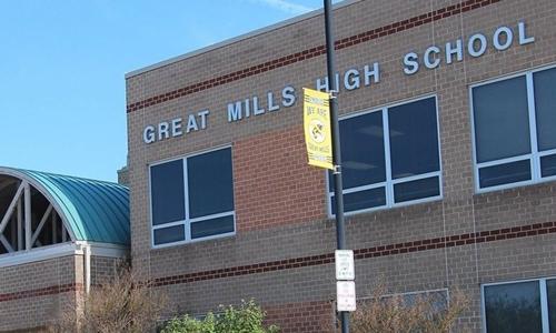 Trường trung học Great Mills bang Maryland, Mỹ. Ảnh: Fox News.