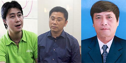 Nam, Dương và ông Hóa trong vụ án.