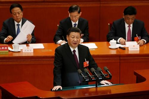 Chủ tịch Trung Quốc Tập Cận Bình phát biểu trước quốc hội ngày 20/3. Ảnh: Reuters.