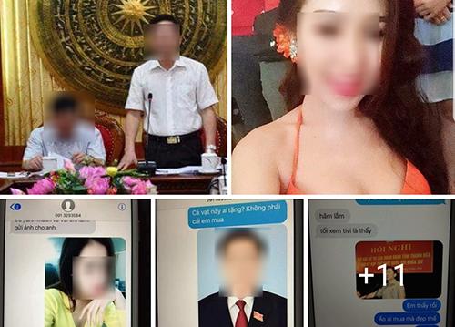 Tài khoản mạng xã hội đăng ảnh cá nhân và tin nhắn kèm nội dung ông Đỗ Trọng Hưng có bồ nhí. Ảnh chụp màn hình.