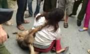 Nữ cẩu tặc bị dân vây đánh, bắt đeo chó trộm vào cổ