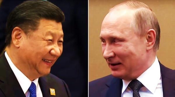 Chủ tịch Trung Quốc và Tổng thống Nga. Ảnh: