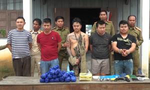 5 nghi phạm Lào bị bắt khi đưa 50.000 viên ma túy vào Việt Nam