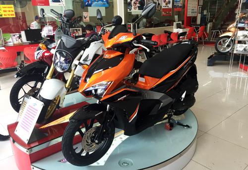 Giá xe máy của Honda, Yamaha giảm nhiệt sau Tết nguyên đán.