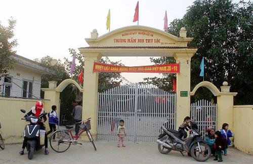 Trường Mầm non Thụ Lộc, nơi bà Thành làm Hiệu trưởng. Ảnh: Đ.H