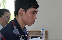 Nguyễn Chí Tâm tại phiên tòa. Ảnh: Nguyễn Khoa.