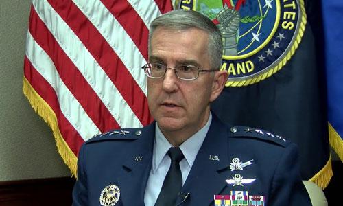 Tư lệnh Bộ chỉ huy chiến lược Mỹ John Hyten. Ảnh: USAF.