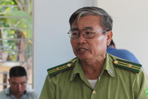 Ông Huỳnh Ngọc Tân - bị cách chức Hạt phó Hạt Kiểm lâm Nam Quảng Nam.Ảnh: Đắc Thành.