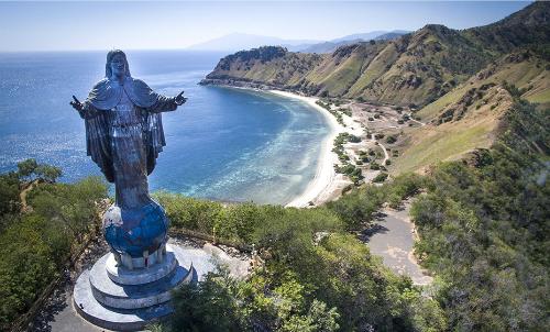Bãi biển mang vẻ đẹp hoang sơ ở quốc gia trẻ nhất Đông Nam Á. Ảnh: Australian Geographic
