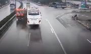 Tài xế xe khách lý giải việc không bẻ lái tránh xe cứu hỏa