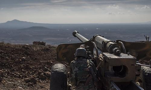 Pháo binh Syria trong một cuộc giao tranh ở miền đông nước này. Ảnh: Sputnik.