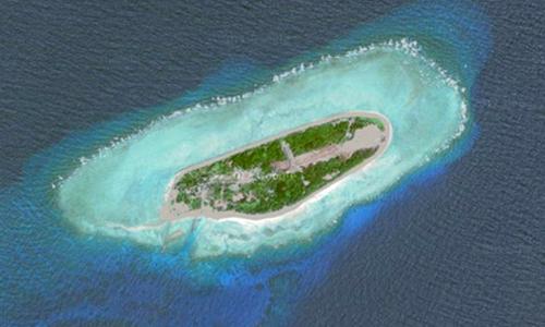 Đảo Ba Bình thuộc quần đảo Trường Sa của Việt Nam. Ảnh: Google Maps.
