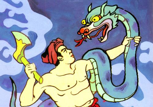 Minh họa truyện Thạch Sanh.