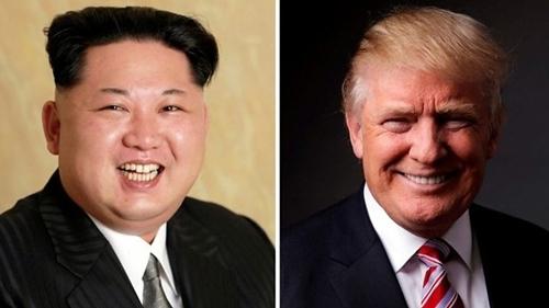 Nhà lãnh đạo Triều Tiên Kim Jong-un, trái, và Tổng thống Mỹ Trump. Ảnh: BBC.