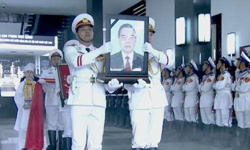 Hàng nghìn người đưa tiễn nguyên Thủ tướng Phan Văn Khải