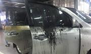 Xe sang Lexus 5 tỷ bị hỏng trong đám cháy chung cư Xa La