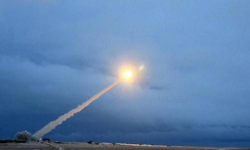 Tên lửa hành trình sử dụng động cơ hạt nhân của Nga phóng thử nghiệm. Ảnh: Tass.
