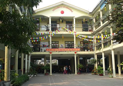 Trường mầm non Việt - Lào nơi xảy ra vụ việc. Ảnh: Nguyễn Hải.