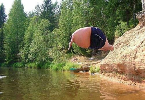 Vận động viên bơi lội hạng nặng.