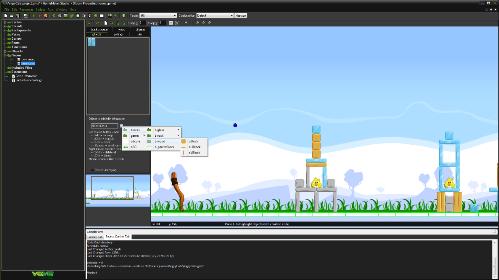 Màn hình thiết kế của Game Maker Studio.