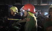 Hầm chung cư Carina tan hoang sau vụ cháy