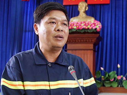Thượng tá Nguyễn Thanh Hưởng. Ảnh: Quốc Thắng.