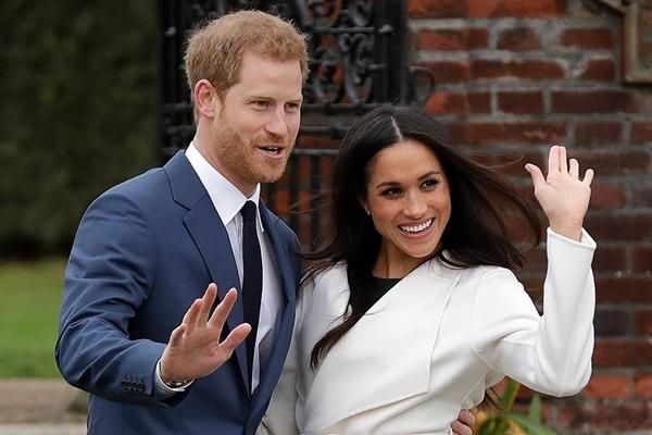 Hoàng tử Anh Harry và Meghan Markle. Ảnh: AP.
