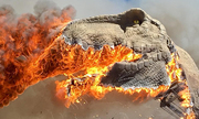 Mô hình khủng long bạo chúa cháy rụi trong công viên ở Mỹ