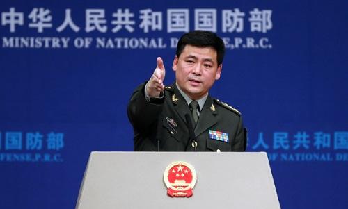 Phát ngôn viên Bộ Quốc phòng Trung Quốc Nhậm Quốc Cường. Ảnh: China Daily.
