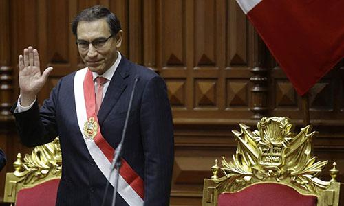 Tân tổng thống Peru Vizcarra. Ảnh: AP.