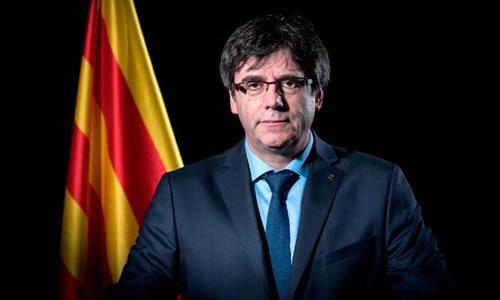 Cựu thủ hiến Catalonia Carles Puigdemont. Ảnh: AFP.