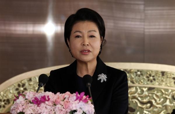 Bà Kim Yoon-ok. Ảnh: Yonhap.