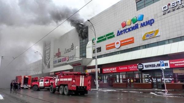 Hiện trường vụ cháy. Ảnh: AFP.