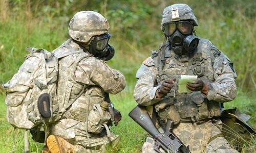 Binh sĩ Mỹ ở châu Âu trong một cuộc tập trận. Ảnh: AFP.