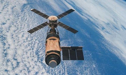 Trạm Skylab rơi mất kiểm soát năm 1979. Ảnh: NASA.