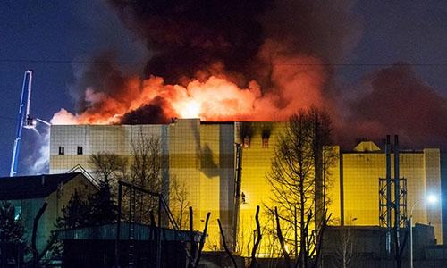 Có 53 người thiệt mạng trong vụ cháy ở Kemerovo. Ảnh: Tass.