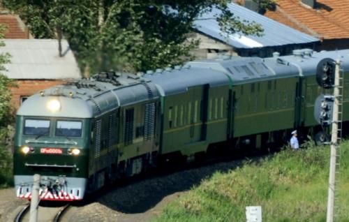 Ảnh chụp năm 2010 cho thấy đoàn tàu cố lãnh đạo Kim Jong-il từng sử dụng để tới Trung Quốc năm