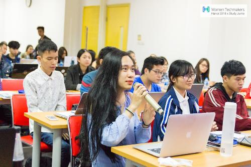 sự kiện Women Techmakers 2018 x Study Jamsđã diễn ra với 70 người tham dự, trong đó 65% là nữ giới.