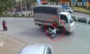 Nữ ninja suýt bá» mạng vì tạt Äầu xe tải á» Hà Ná»i