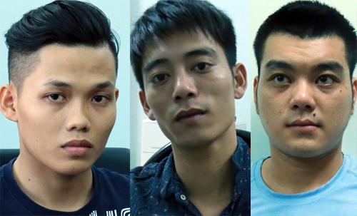 Ba nghi can bị bắt giữ. Ảnh: Nguyệt Triều.
