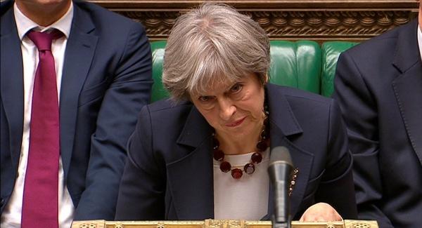 Thủ tướng Anh Theresa May phát biểu trước quốc hội. Ảnh: Reuters.