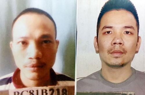 Thọ Sứt (trái) và Tình trong hồ sơ cảnh sát.