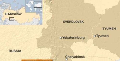 Vị trí khu vựcSverdlovsk. Đồ họa:BBC.