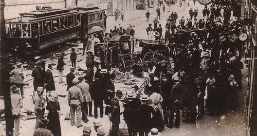 Hiện trường vụ ám sát khơi mào Thế chiến I. Ảnh: New Historian.