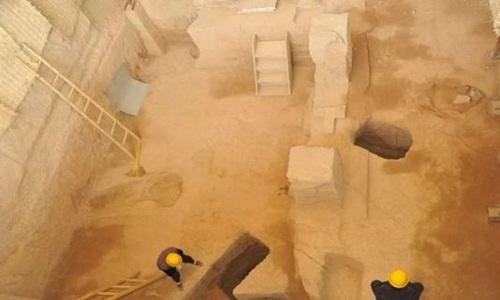 Gian chính trong lăng mộ được cho thuộc về Tào Tháo. Ảnh: SCMP.